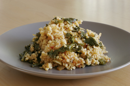 Bulgur Pilaf with Kale